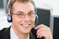Call centre man with headset